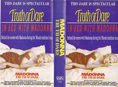 Madonna Truth Or Dare Vhs Video Pal~A Rare Find