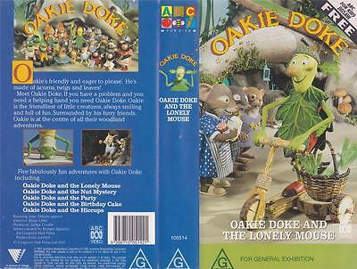 Oakie Doke And The Lonely Mouse Vhs Video Pal~ A Rare Find~