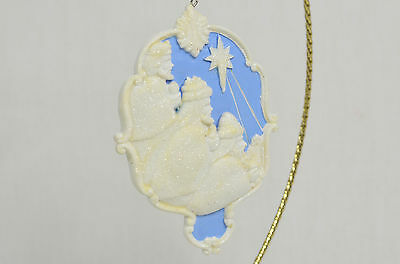 3 Wise men Blue Disc Christmas Tree Ornament new nativity religious