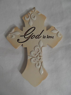 God is Love Inspirational Cross Christmas Tree Ornament new