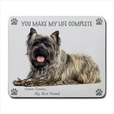 New Design Adorable CAIRN TERRIER Dog Puppy Rubber Computer MOUSE PAD Mat New