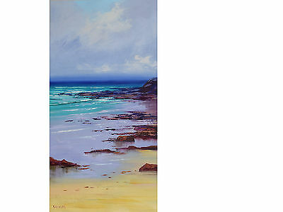 Modern Beach Painting stretched Original oil Seascape Fine art by G. Gercken