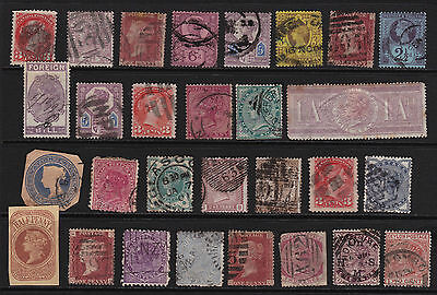 GB & Empire Stamps 29 Queen Victoria Selection from Old Album