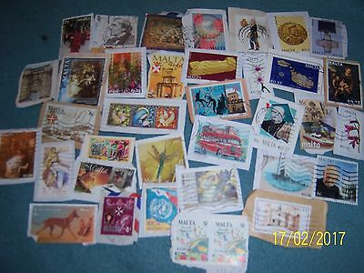10g USED MALTA STAMPS (5)