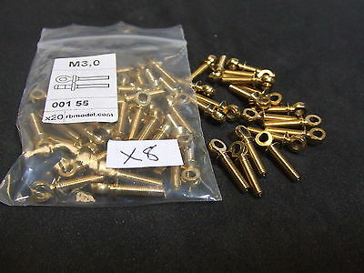 60 Model Boat Ship Hand Rail Stanchion in Brass (X8)