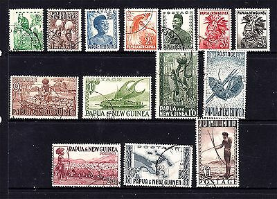 "Papua New Guinea 1952 Set Complete To ""1"" Pound Fisherman Very Fine Used (D50)"