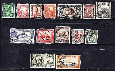 New Zealand 1935 Set Complete To 3/- Used (D44)