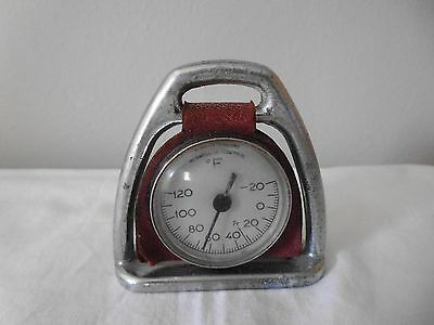 """Vintage Regwell control small chromed stirrup thermometer , 2"""""""
