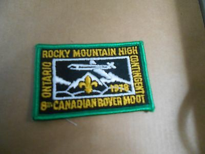 (Sd7-R) Ontario Contingent  8Th Canadian Rover Moot    Canadian Scout Badges