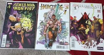 Marvels Powerman And Iron Fist #1 Illuminati #1 & Hercules #1