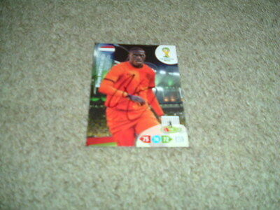 Bruno Martins Indi - Holland - Signed Panini 2014 World Cup Card