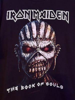 Official Iron Maiden Black T-Shirt The Book Of Souls Size Xl