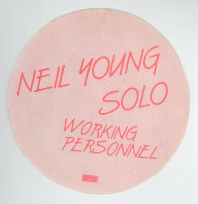 ORIG Neil Young 1983 Solo Trans Tour WORKING PERSONNEL Orange Backstage Pass!