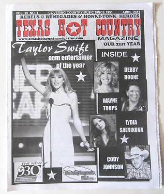 2012 Texas Hot Country Local TX Magazine w/ Taylor Swift Cover!