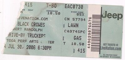 THE BLACK CROWES & DRIVE BY TRUCKERS 7/30/06 Saratoga NY PAC Ticket Stub!