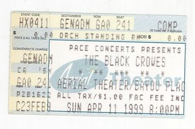 RARE The Black Crowes 4/11/99 Houston TX Aerial Theater Concert Ticket Stub!