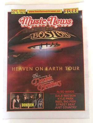 2014 Music News Texas Magazine! Boston the band & Doobie Brothers Cover! 1 LEFT!