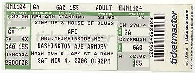 Rare A FIRE INSIDE 11/4/06 Albany NY Wash Ave Armory Concert Ticket! AFI