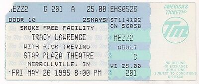 Rare TRACY LAWRENCE & RICK TREVINO 5/26/95 Merrillville IN Concert Ticket Stub!