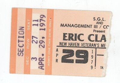 RARE Eric Clapton & Muddy Waters 4/29/79 New Haven CT Concert Ticket Stub!