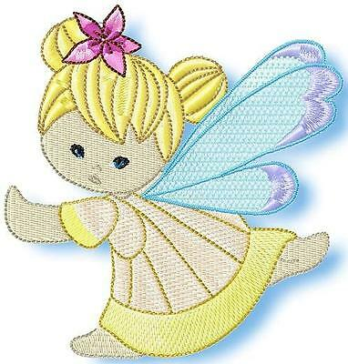 Sparkles The Fairy  11 Machine Embroidery Designs Cd In 4Inch & 5Inch