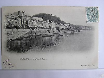 Postcard - Duclair - The Quayside - Upper Normandy France - 1903