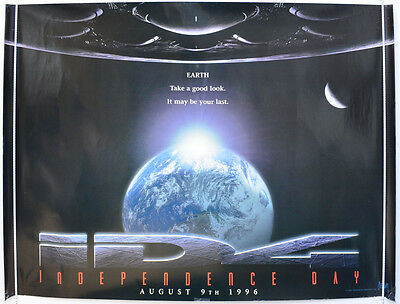 INDEPENDENCE DAY (1996) Original Quad Movie Poster - Will Smith (Teaser Vers 1)