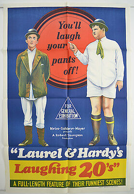 LAUREL AND HARDY'S LAUGHING 20'S (re-release) Australian One Sheet Poster