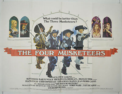 THE FOUR MUSKETEERS (1974) Original Quad Film Poster - Raquel Welch, Chantrell