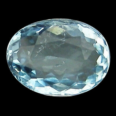 0.94 Ct Attractive!! Top-Sky Blue Genuine Natural Oval Aquamarine.