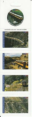 NEW ZEALAND-DX Mail Service. DUNEDIN, Taieri Gorge Rly. strip x 5 stamps. MNH