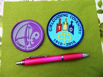 Scouts Guides Coventry 100 Years Guides Camp Blanket  Badge  Look !!!
