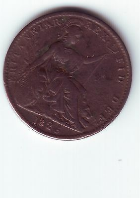 George IV Farthing 1823 or 1825 - Misplaced 3 or 5 on date