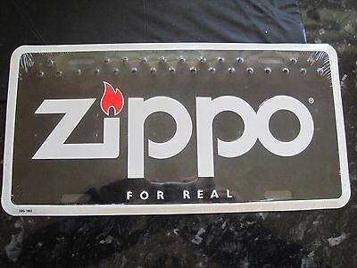 Zippo For Real Genuine Point Of Sale Usa Style Metal Number Plate Lighter Advert