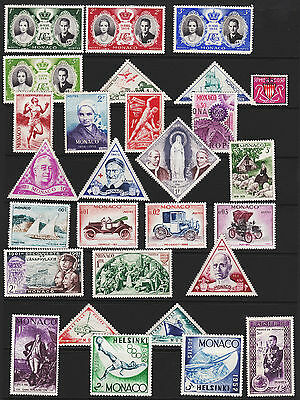 Monaco Stamps from Old Album GCV