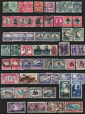 South Africa Stamps from Old Album GCV
