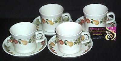FOUR Wedgwood QUINCE Cups and Saucers