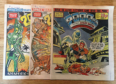 2000AD Featuring Judge Dread Comics 3 Oddment Numbers  -Year 1981 To 1982