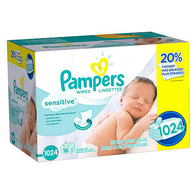 New Pampers Sensitive Wipes - 1024 Count Model:21606239
