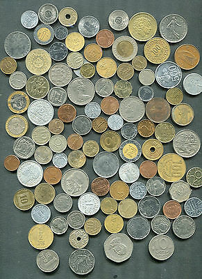 World 100 Different Coins. Lot.