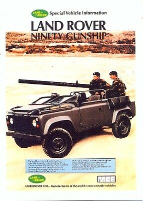 Land Rover Ninety Gunship - Modern postcard by Vintage Ad Gallery