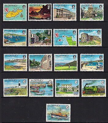 ALDERNEY 1983/93 ISLAND SCENES DEFINITIVE SET of 17 MNH