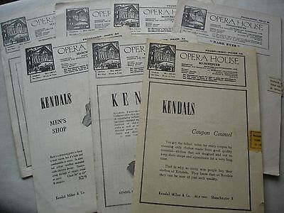 7 Vintage OPERA HOUSE Manchester Theatre Programmes 1940s