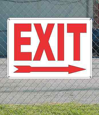 "EXIT with RIGHT ARROW - OSHA Safety SIGN 10"" x 14"""