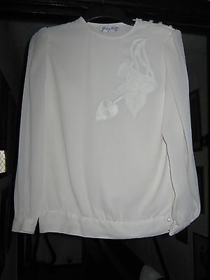 Jersey Masters London Cream Blouse/Top Size 12