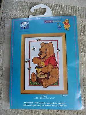 Counted Cross Stitch Kit. Vervaco Winnie the Pooh.13 x 18 cm. NEW.