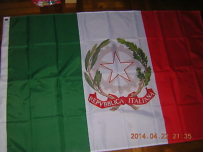 100% New Reproduced Italian Flag of Italy State Ensign, 3ftX5ft Rome Roma