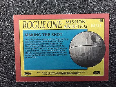 Star Wars Rogue One Mission Briefing Mint Orange Foil Stamped Parallel 04/50