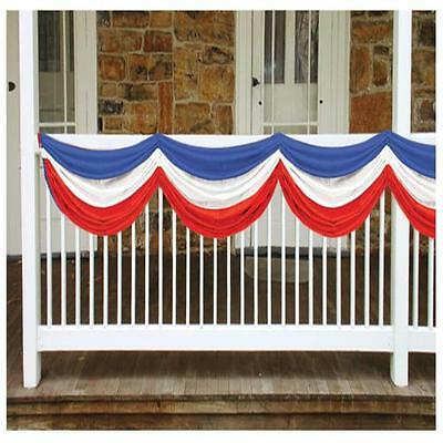 July 4Th Independence Day Patriotic Colors Fabric Bunting Party Decor Bg50948