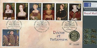 1997 Hever Castle Royal Mint stamp and coin cover